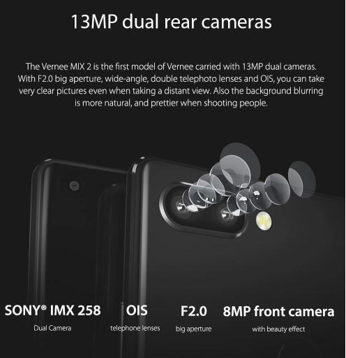Vernee MIX 2 カメラ