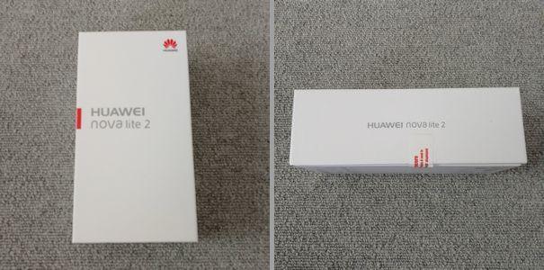 HUAWEI nova lite 2の外箱