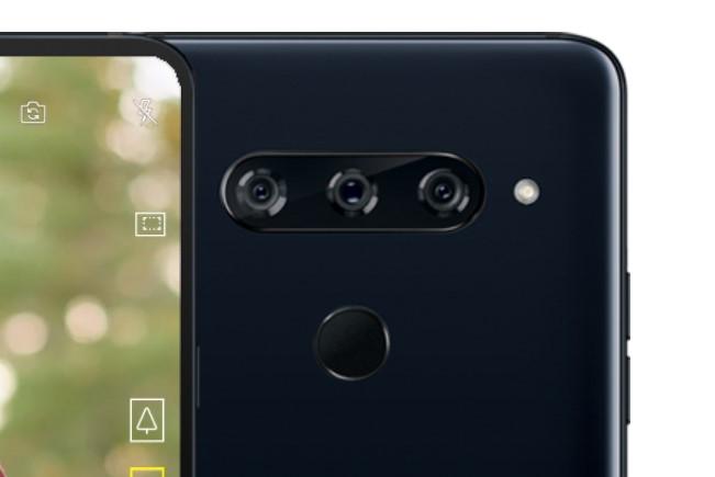 「LG V40 ThinQ」のトリプルカメラ