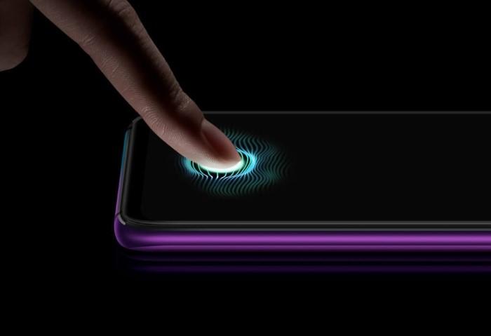 「OPPO R17 Pro」のディスプレイ内蔵の指紋センサー