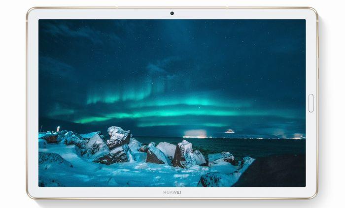 「HUAWEI MediaPad M6 10.8」の10.8インチディスプレイ