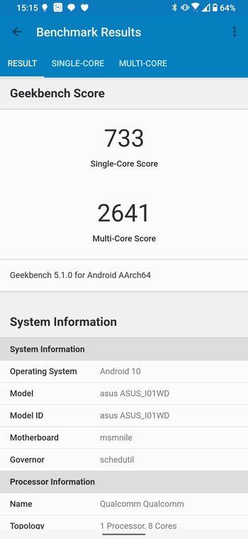 「ZenFone 6」のスコア