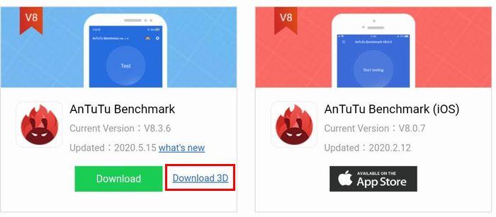 「AnTuTu 3D Bench」をダウンロード