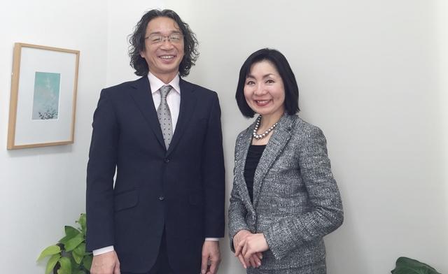 竹内代表と門田カウンセラー