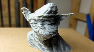 3Dプリントしたヨーダが、なんだか横風が強い感じになった
