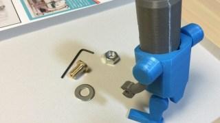 [週刊マイ3Dプリンター11号] テーブルベースに真鍮ナットを取り付ける