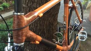 あの自作竹フレーム自転車もついに完成!!  Bamboobee 組み立て12回目