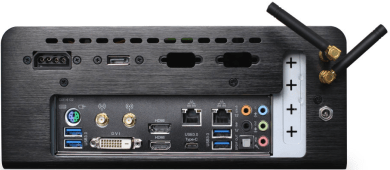 image showing the two USB 3, HDMI, DVI, ethernet ports, and power connector on the back of LTE/GSM LabKit