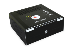 image with MiniCore, a small factor PC that can run YateUCN Core network, HSS/HLR, STP, DRA and SMSC