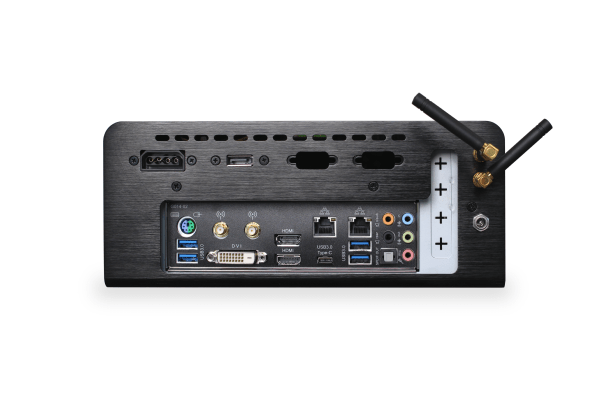 image showing LTE LabKit rear side with connectors Ethernet, USB 3, power connector, antennas and filter