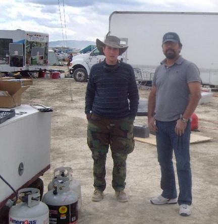 David Burgess at Burning man 2009