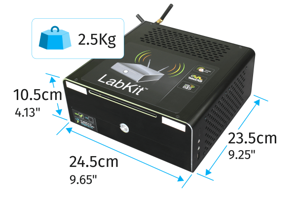 GSM LabKit Physical specs: size and weight