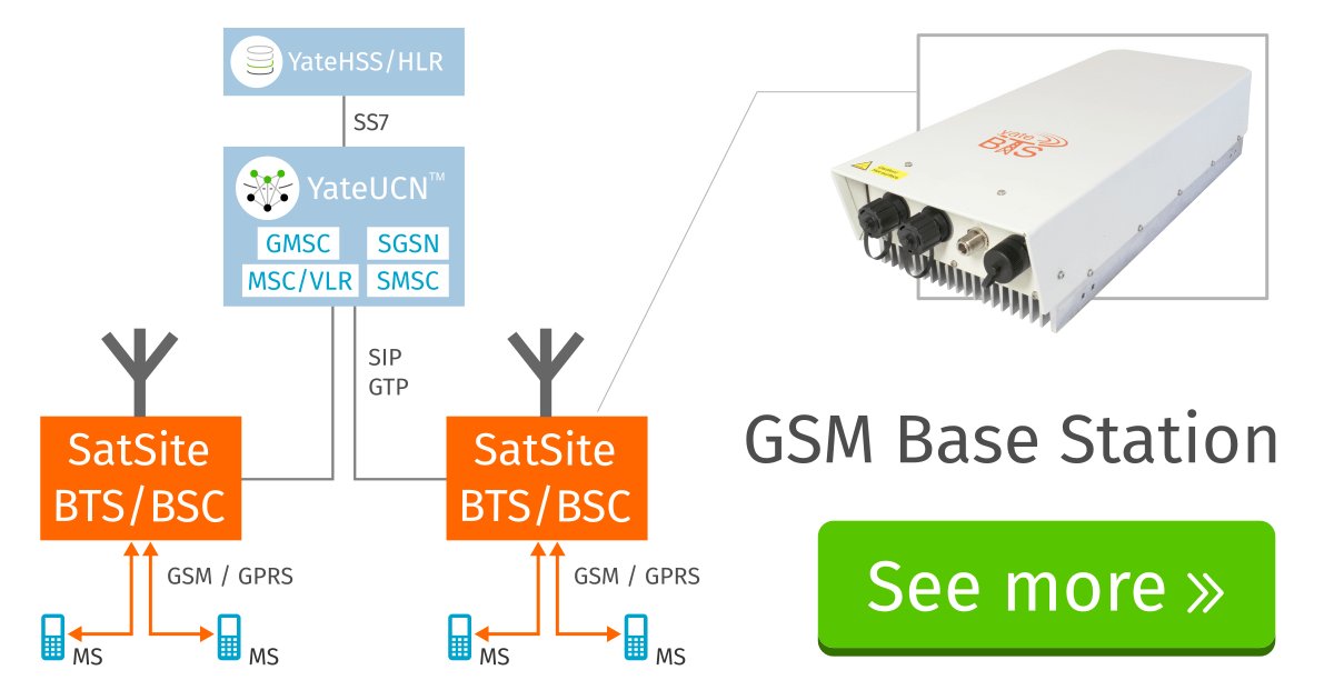 BSC and BSC in a single equipment, the SatSite is a GSM BTS