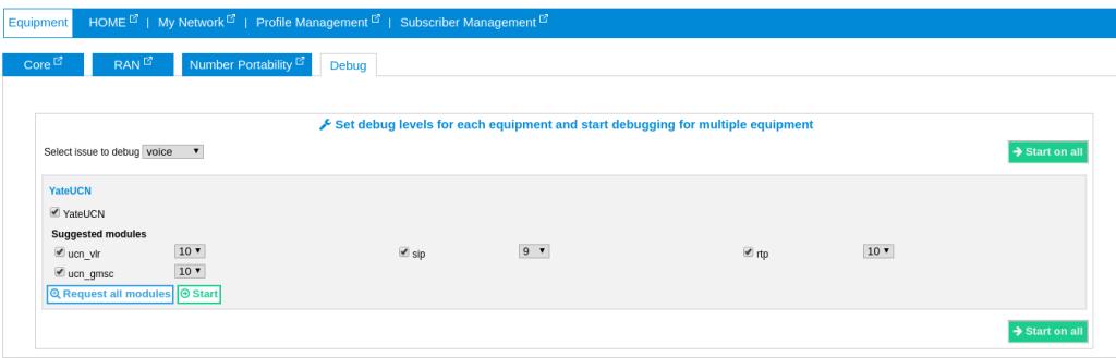 set debug level view for logger