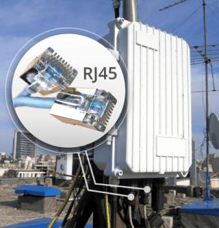 image proving IP backhaul connection for GSM/LTE SatSite base station