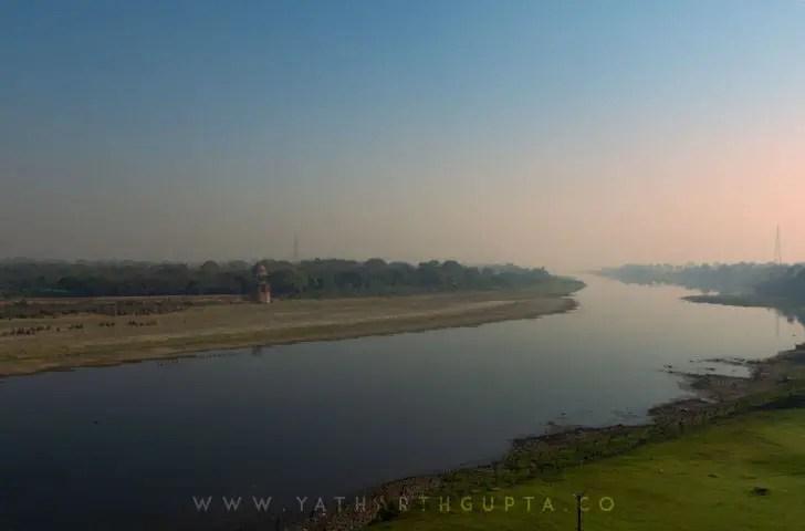 Yamuna River Agra Taj Mahal