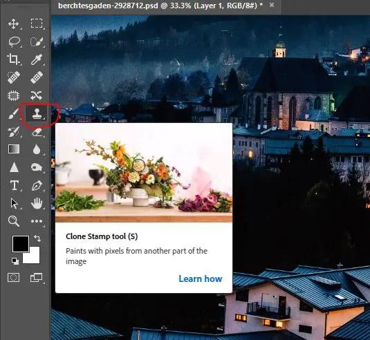 clone stamp tool photoshop