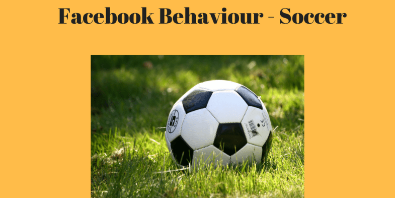 Facebook Behavior - Soccer