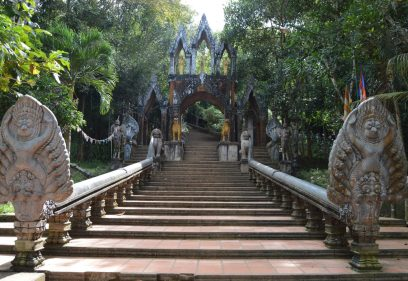 Entrance to Preah Ang Thom, a Buddhist monastery in Phnom Kulen, Cambodia