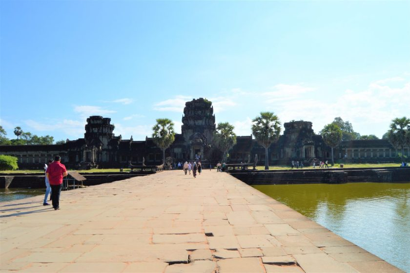 Entrance to the outer enclosure of the Angkor Wat Temple in Siem Reap, Cambodia