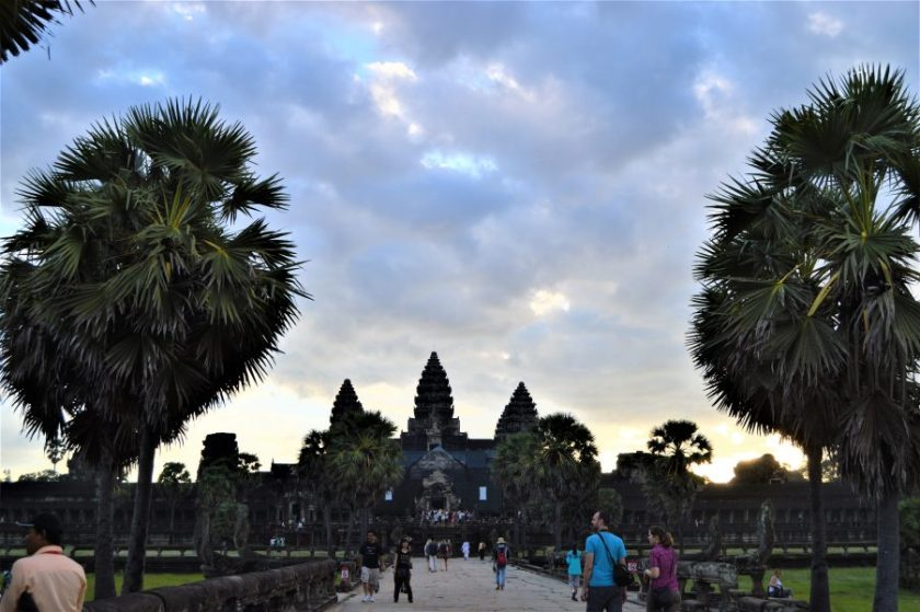 Entrance to the Angkor Wat temple