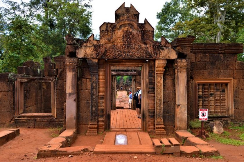 Entrance to the Banteay Srei Temple complex located near Siem Reap, Cambodia