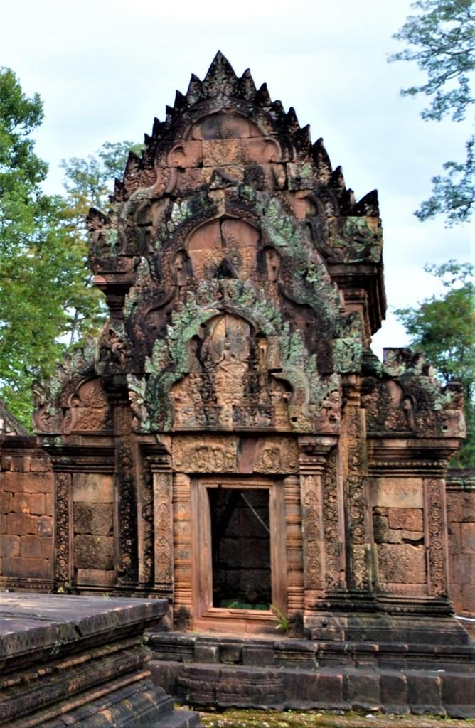 South library west facing facade - Kama firing arrows towards Shiva
