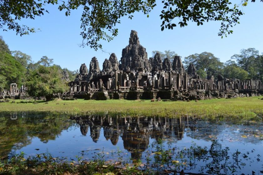 A view of the Bayon Temple from the southwest side