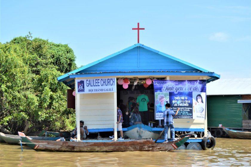 A floating church on Tonlé Sap Cambodia