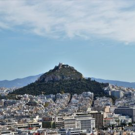 A view of Athens showing Mount Lycabettus