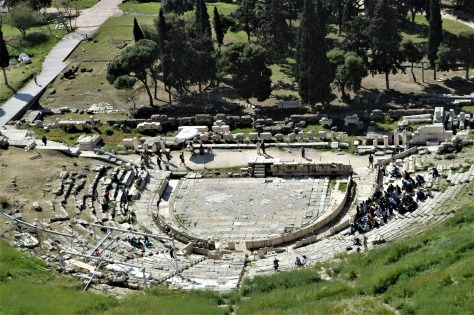 Theatre of Dionysus located at the foothills of Acroplolis