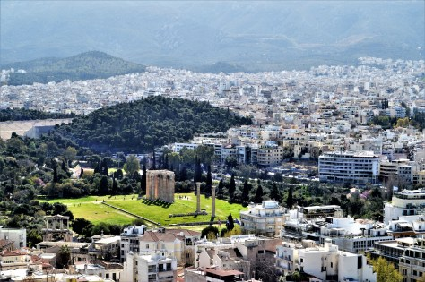 Hadrian's Arch and Temple of Olympian Zeus view from the Athens Acropolis