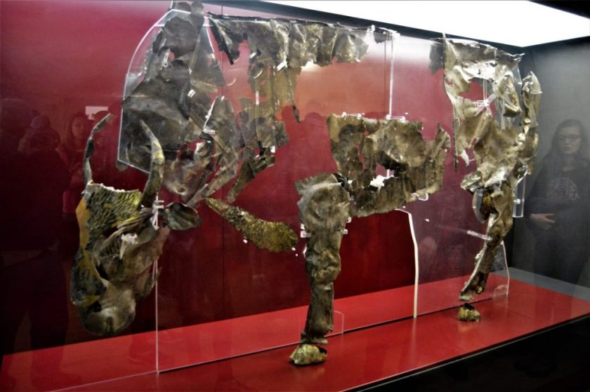 Silver Bull on display at the Delphi Museum