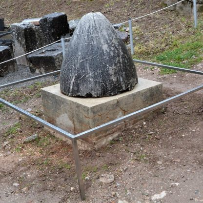 Omphalos stone at the Delphi archaeological site