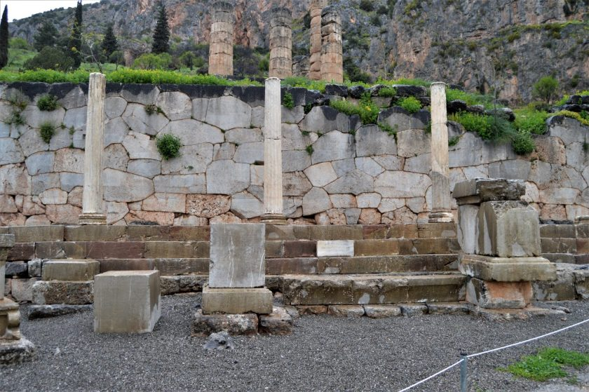 Polygonal Wall - A retention wall of the Temple of Apollo at Delphi, Greece