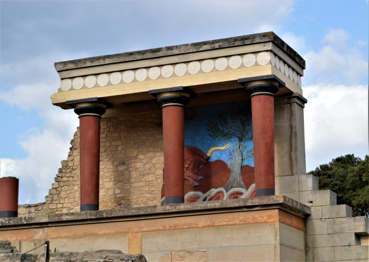 Bastion of the Bull at Knossos in Crete, Greece