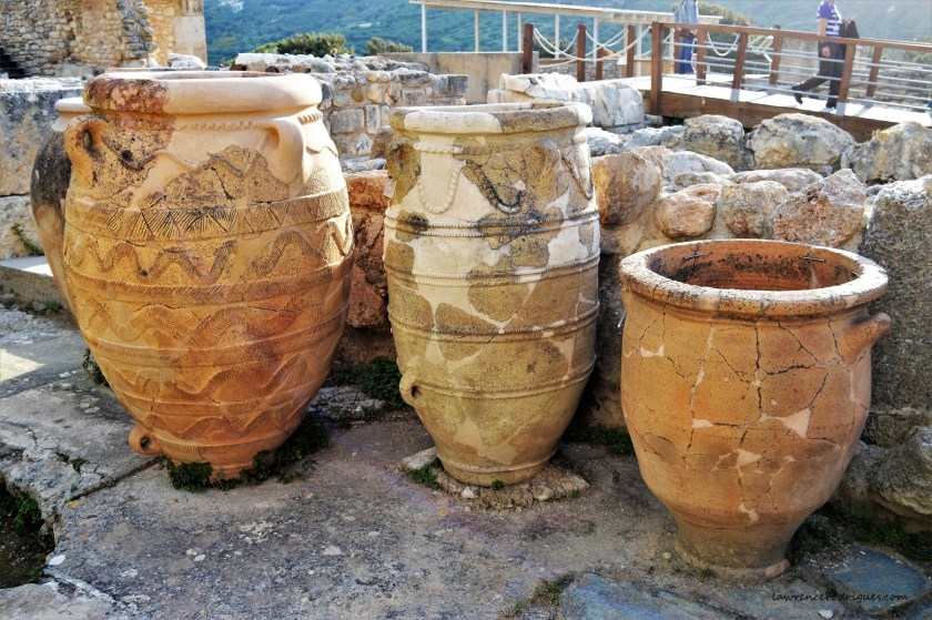 Pithoi jars found at the ruins of Palace at Knossos in Crete, Greece
