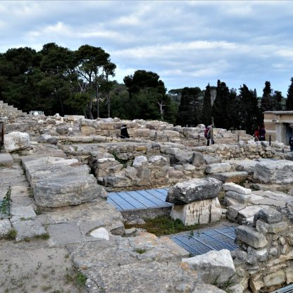Ruins of Palace at Knossos in Crete, Greece