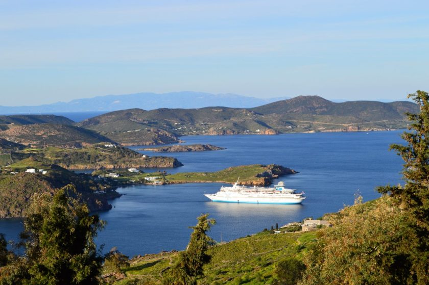 A panoramic view from the Island of Patmos, Greece