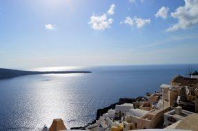 Scenic Oia village of Santorini, Greece