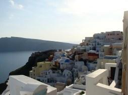 Scenic Oia Village in Santorini, Greece