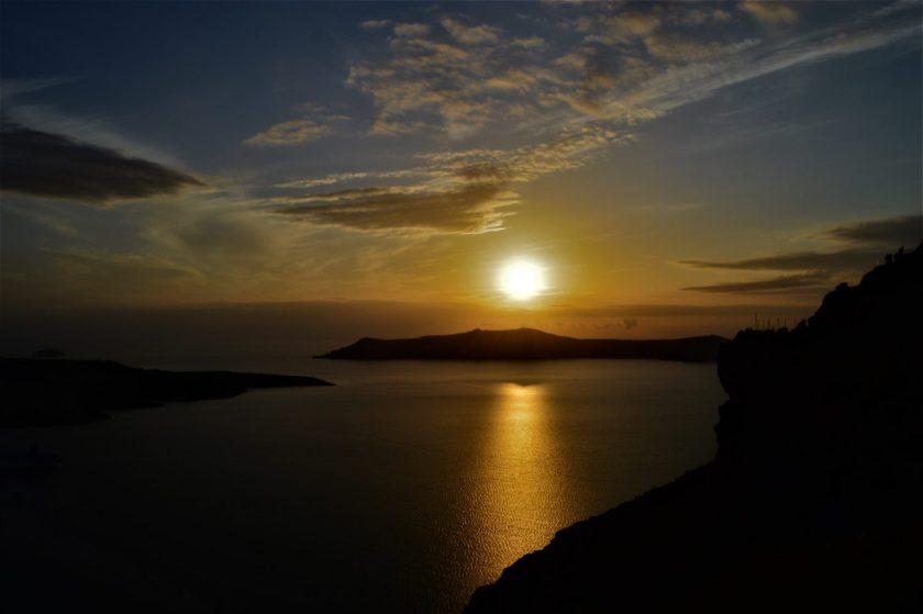Sunset at Oia Village, Santorini