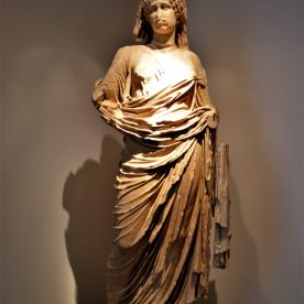 Statue ofAgrippina Minor, Emperor Nero's mother, on display at the Olympia Archaeological Museum