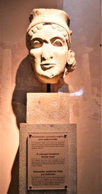 Statue of female head excavated near the Temple of Hera - on display at the Olympia Archaeological Museum