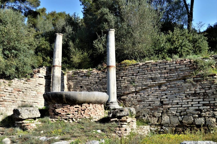 Naiskos at the Nymphaion in Olympia, Greece