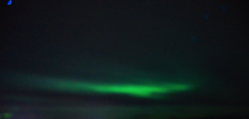 Iceland sky lit with the Northern Lights (Aurora Borealis)