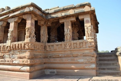South side view of the Durga Temple in Aihole, Karnataka, India