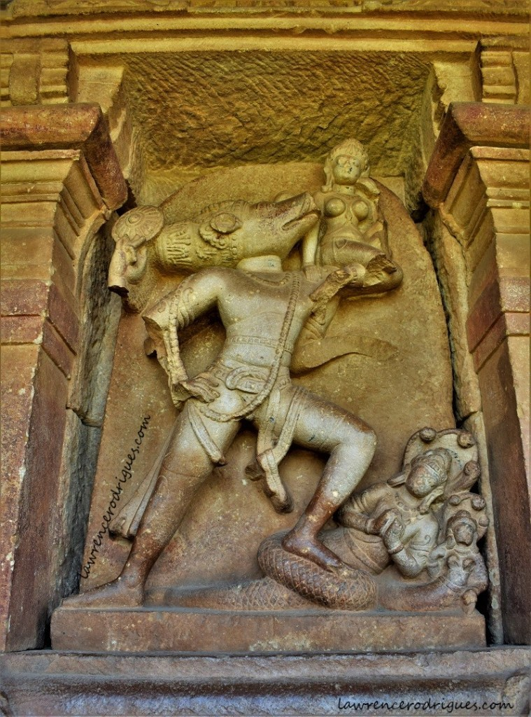 Varahavatara installed in a devakoshta of the Durga Temple located in Aihole, Karnataka, India
