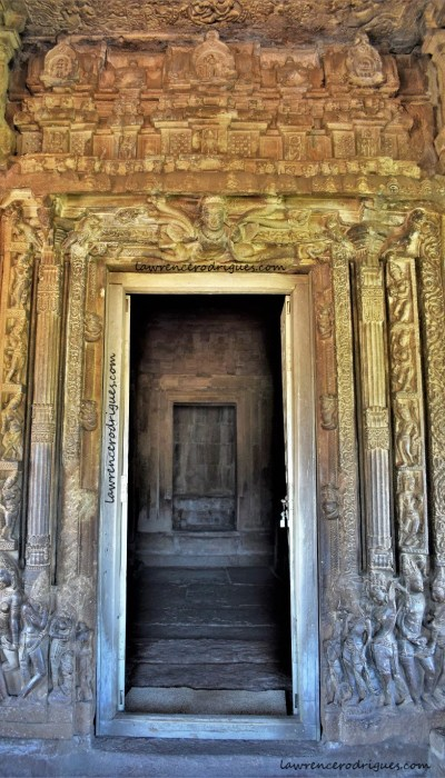 Entrance to the sabhamantapa of the Durga Temple at Aihole in Karnataka, India