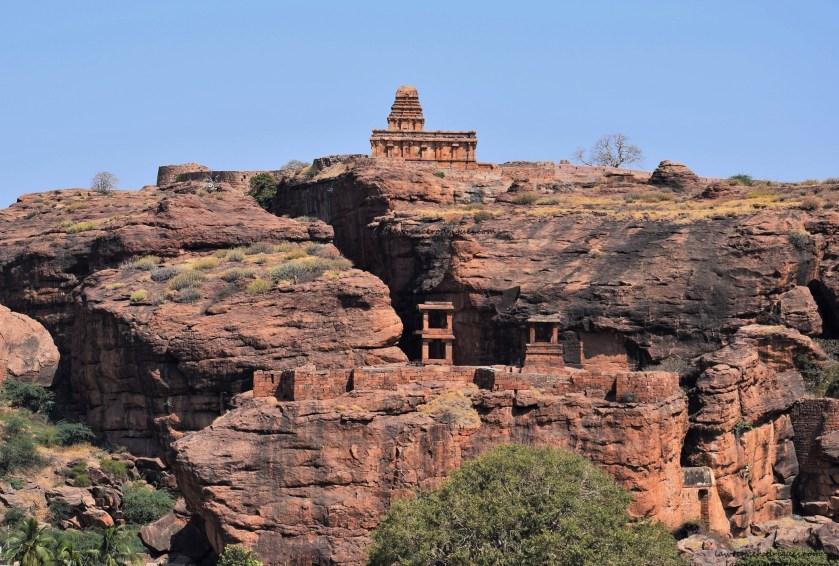 Upper Shivalaya, North Fort, and Watch Towers in Badami, Karnataka, India